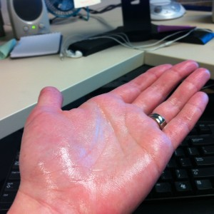 sweaty palm