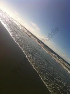The beach at North Myrtle Beach, SC