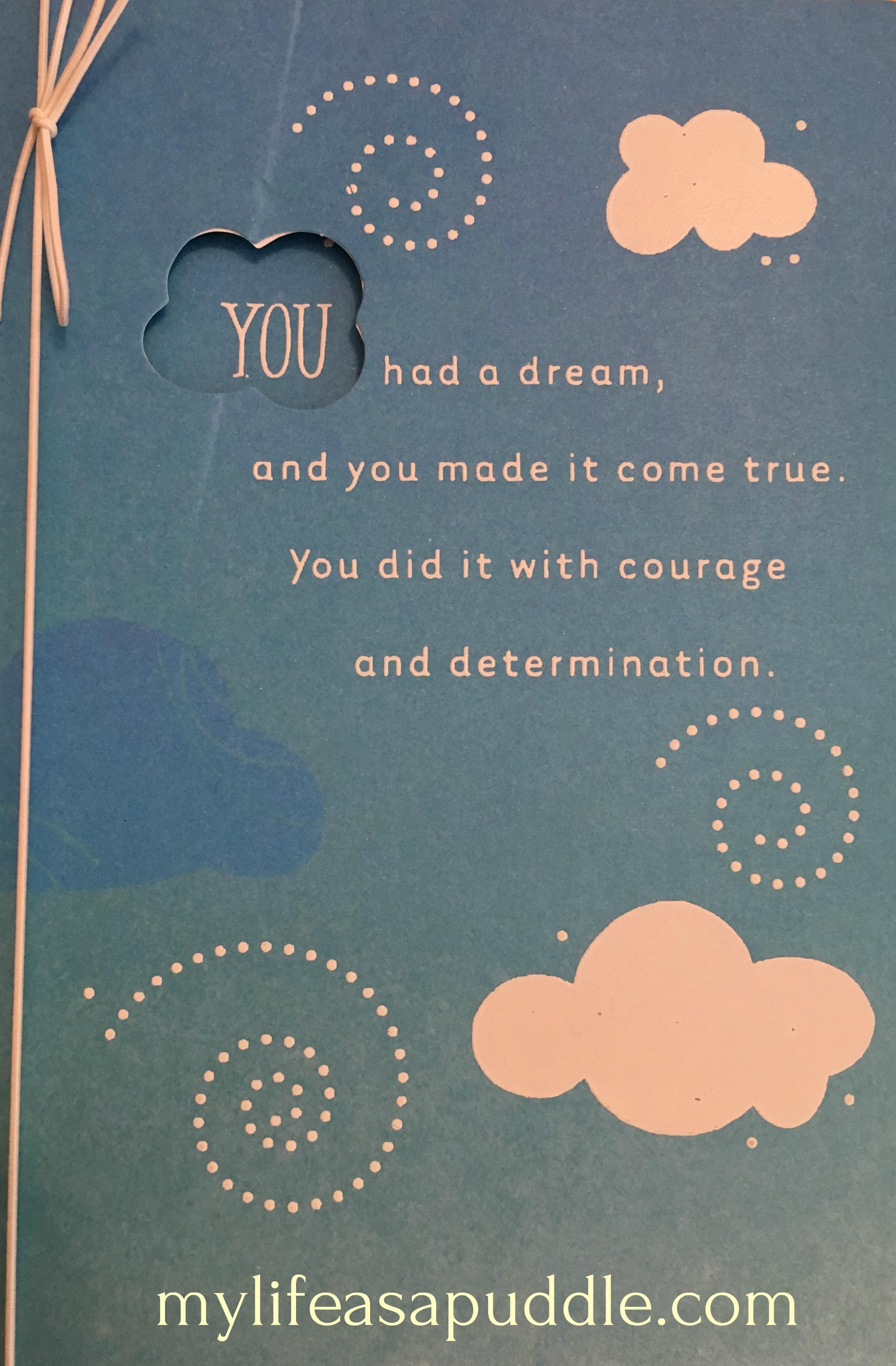 Hallmark dream card