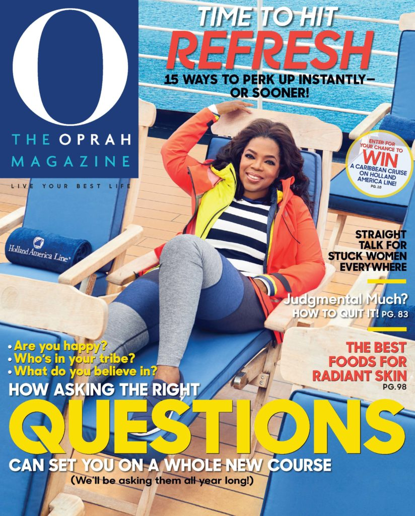 Oprah Magazine January 2018 cover