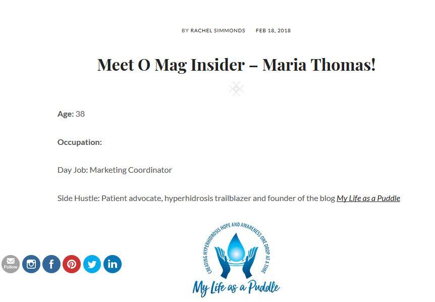 Maria Thomas featured on Rachel SImmonds Health and Wellness