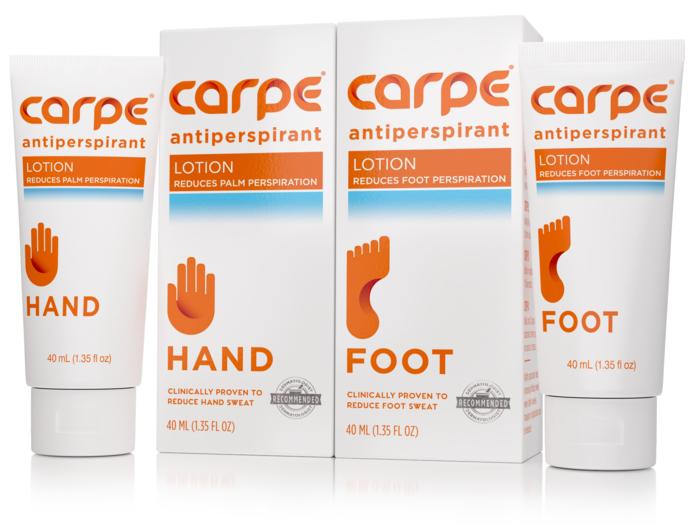 Carpe Lotion product tubes