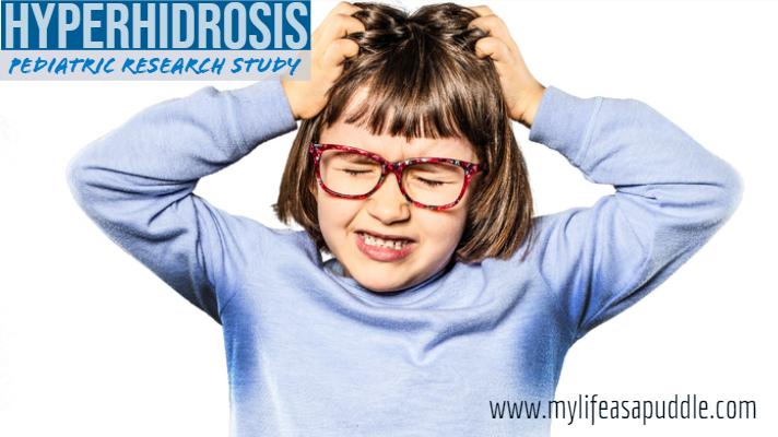 little girl with axillary hyperhiidrosis (sweaty underarms)