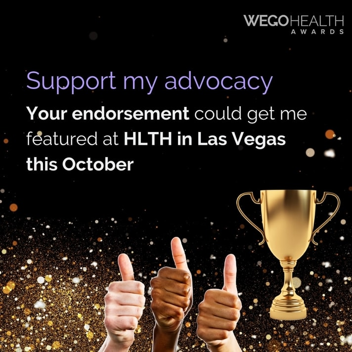 Endorse hyperhidrosis for the 2019 WEGO Health Awards