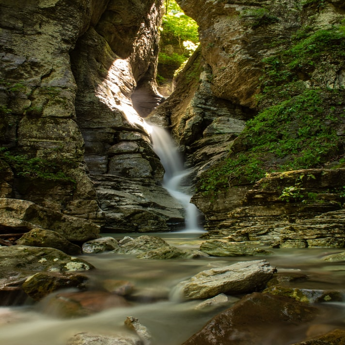 Arkansas waterfall photo taken by Beth despite having hyperhidrosis
