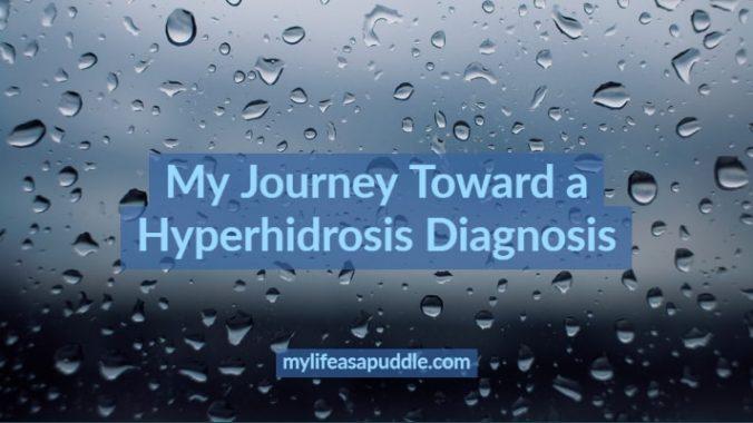 rain drops representing hyperhidrosis